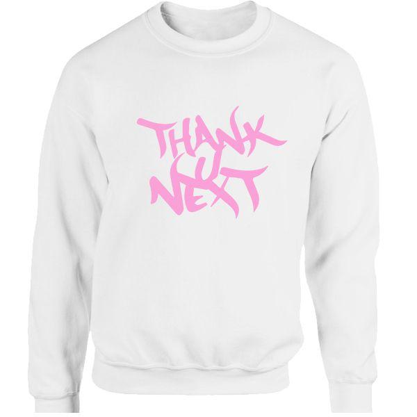 Moletom Ariana Grande -Thank U Next Album - estampa Rosa