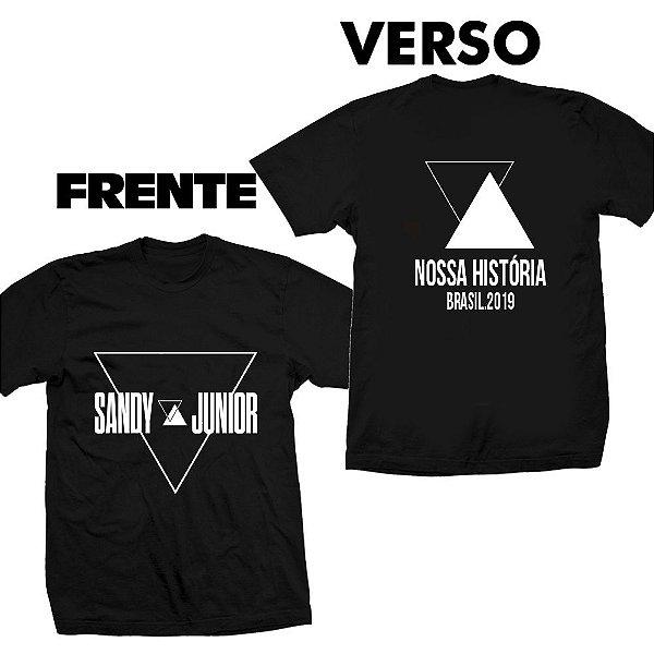 Camiseta Sandy e Junior - Nossa História