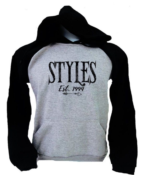 Moletom Raglan Harry Styles - Est 1994