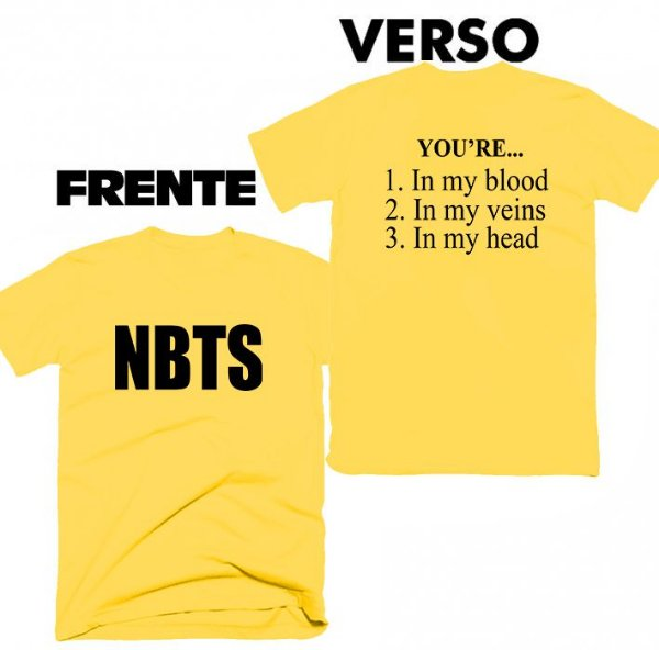 Camiseta Camila Cabello – NBTS frente e verso