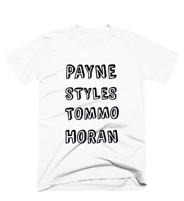 Camiseta One Direction – Nomes