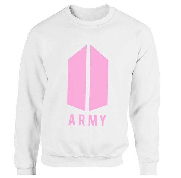 Moletom BTS – ARMY – estampa rosa