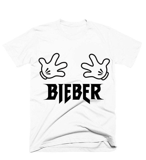 Camiseta Justin Bieber – Mãozinhas