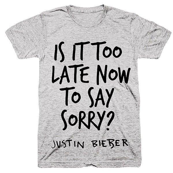 Camiseta Justin Bieber – Sorry Refrão