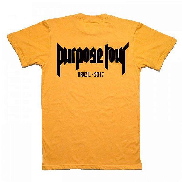 Camiseta Justin Bieber Purpose Tour – Brasil