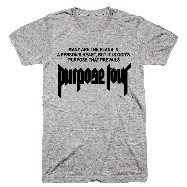 Camiseta Justin Bieber Purpose Tour 8