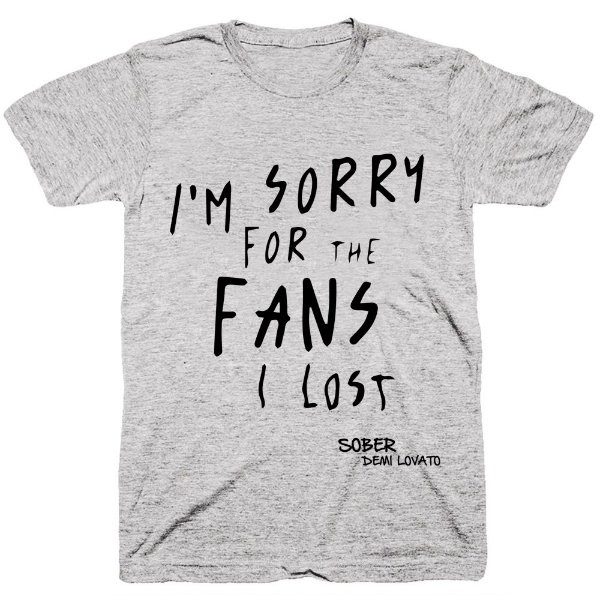 Camiseta Demi Lovato – Sober Lyrics – 02