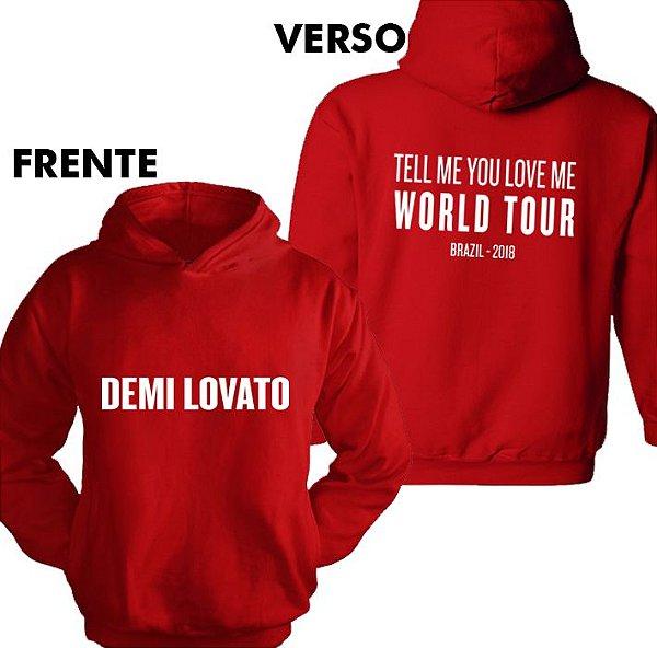 Moletom Demi Lovato TMYLM World Tour 13