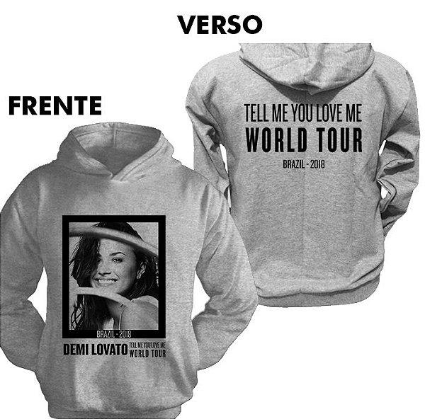 Moletom Demi Lovato TMYLM World Tour 2