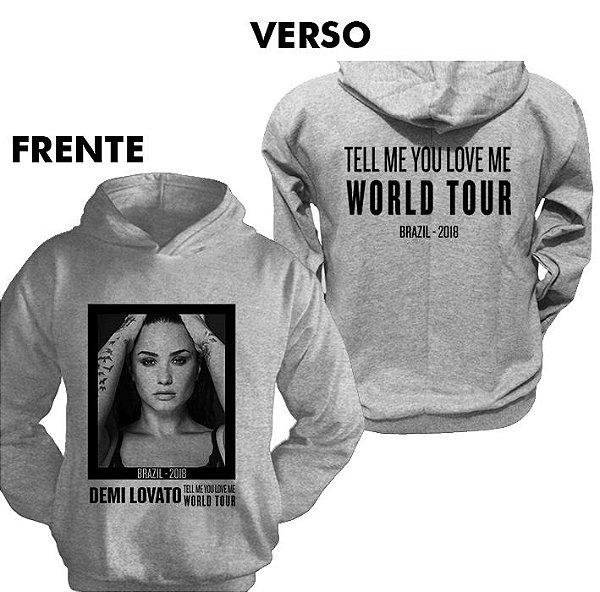 Moletom Demi Lovato TMYLM World Tour 1