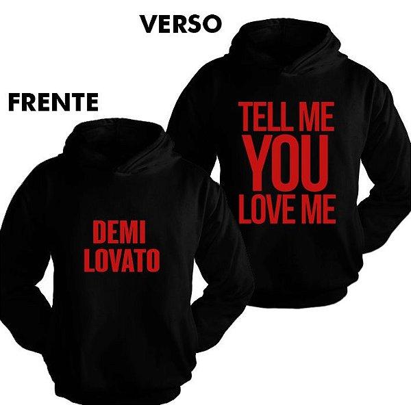 Moletom Demi Lovato TMYLM World Tour 7