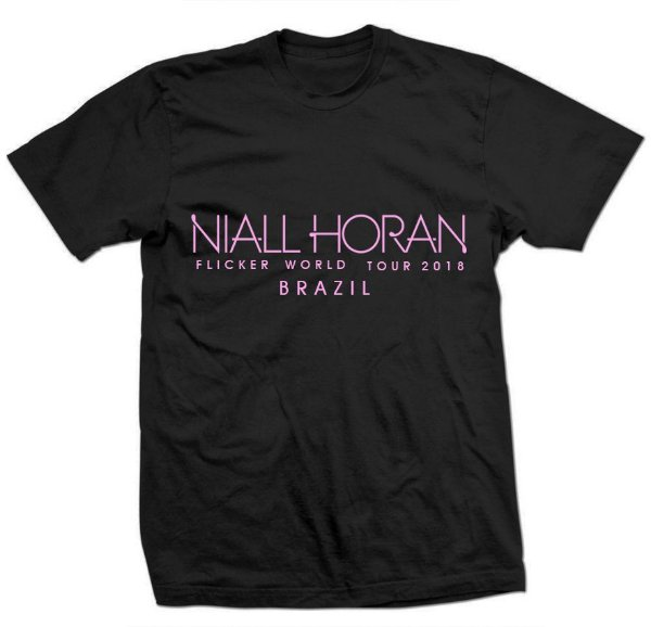 Camiseta Niall Horan – Estampa Rosa Flicker Tour