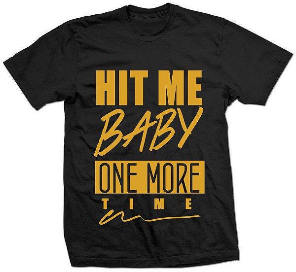 Camiseta Britney Hit Me Baby Dourada