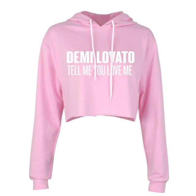 Moletom Cropped Demi Lovato – Tell Me You Love Me