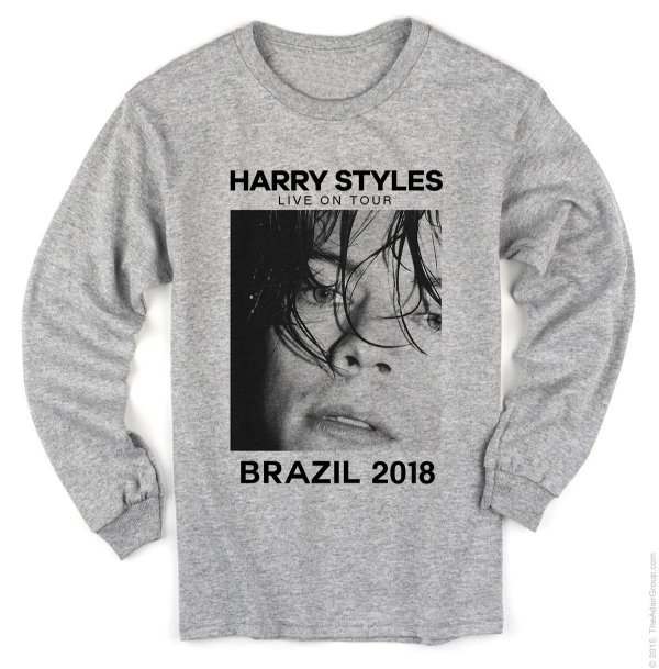 Manga Longa Harry Styles – Live on Tour 2018