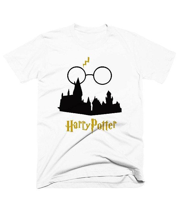 Camiseta Harry Potter – Castelo, Oculos e raio