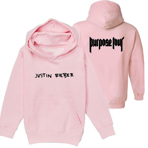Moletom Rosa- Justin Bieber - Purpose