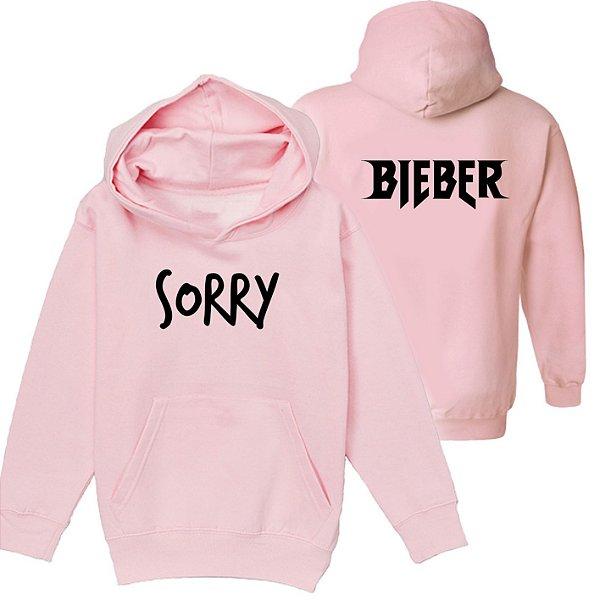Moletom Rosa- Justin Bieber - Sorry