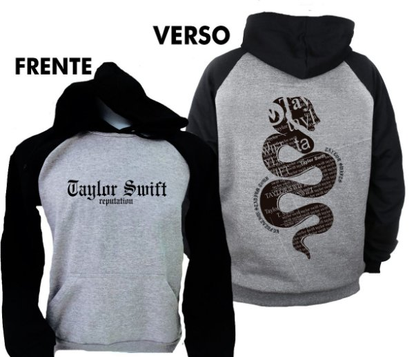Moletom Raglan Taylor Swift – Reputation Snake