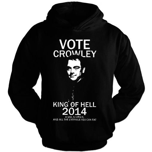 Moletom SuperNatural – Vote Crowley