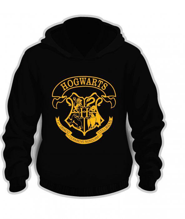 Moleton hogwarts símbolo estampa dourada 2