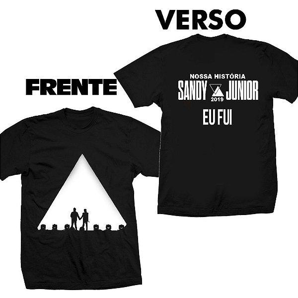 Camiseta Sandy e Júnior Nossa História -  Eu Fui