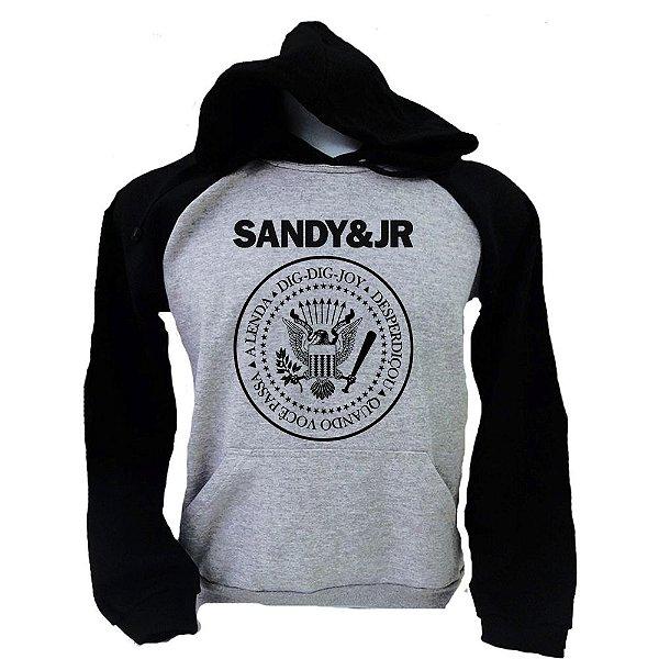 Moletom Raglan Sandy e Júnior - Logo Ramones