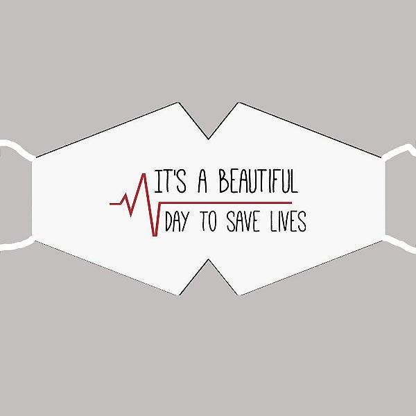 Máscara Grey's Anatomy - Save Lives