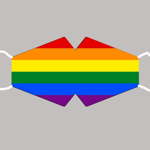 Máscara Bandeira Gay