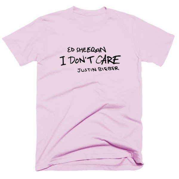 Camiseta Justin e Ed Sheeran - I dont Care