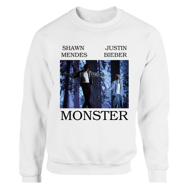 Moletom Shawn Mendes e Justin Bieber - Monster