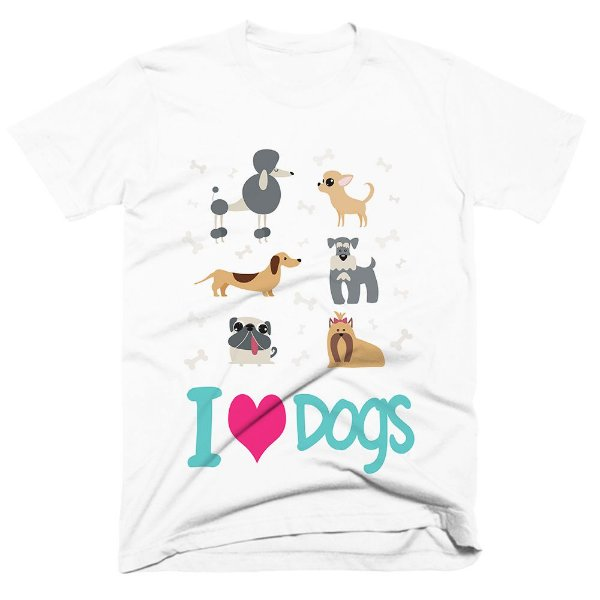 Camiseta pet - Love dogs