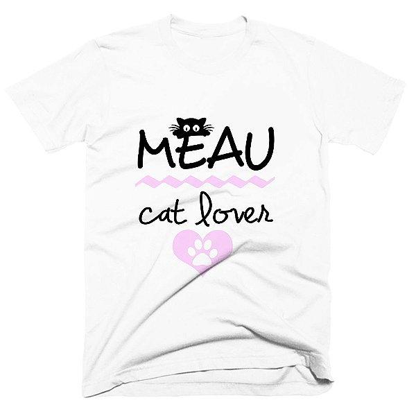 Camiseta pet - Meau cat lover