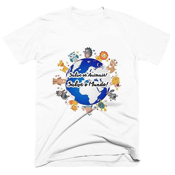 Camiseta pet - Salve os Animais