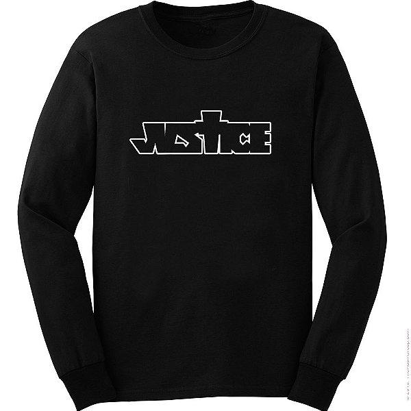 Camiseta Manga Longa Justin Bieber - Justice Logo