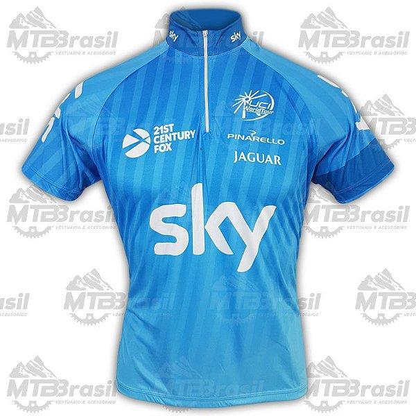 CAMISA CICLISMO SKY BLUE