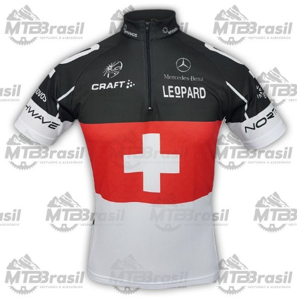 CAMISA CICLISMO SWISS LEOPARD