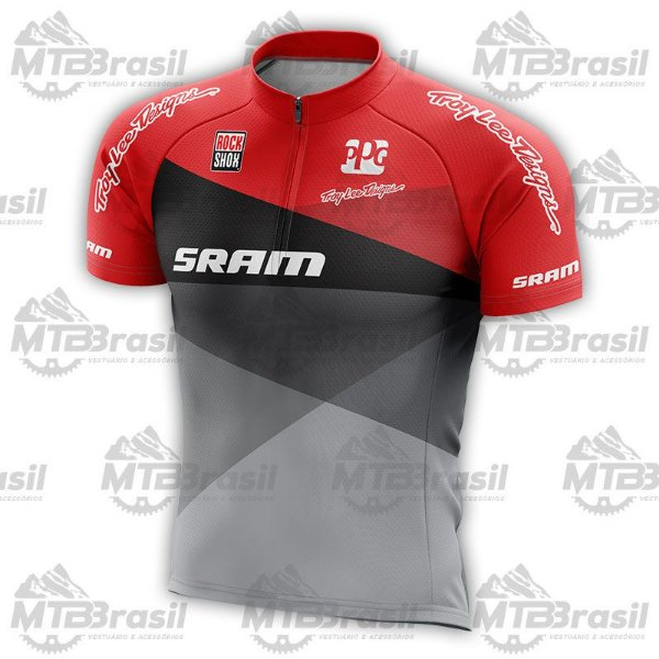 CAMISA CICLISMO SRAM TROY LEE RED