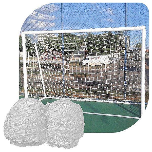 Par Rede Gol Futsal Sob Medida Fio 4mm Malha 10cm Seda