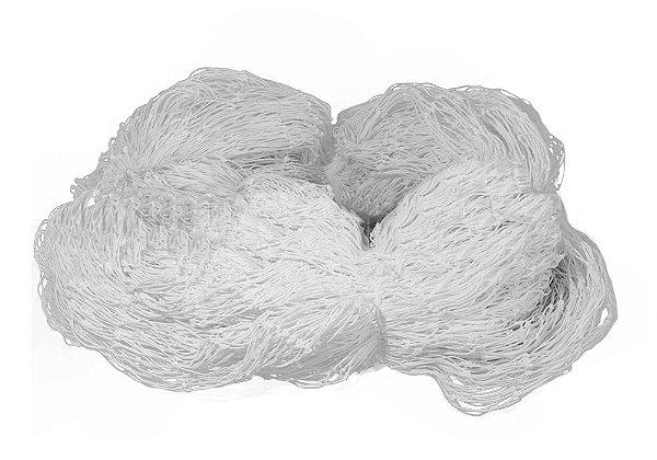 Rede de Proteção Esportiva 7,50x14m Fio 4mm Malha 15cm Branca Nylon