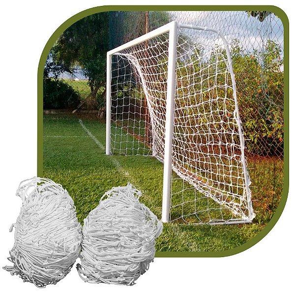 Par de Rede para Trave de Gol Society Suiço Sob Medida Fio 6 Nylon