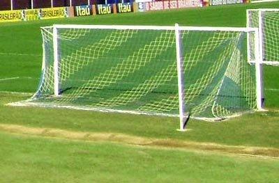Par Rede Gol Futsal Sob Medida Duas Cores Fio 4mm Nylon