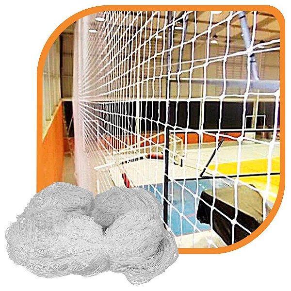 Rede de Proteção Esportiva Para Campo/Quadra de Futsal, Futebol, Society 4x11,50m Fio 4 Malha 10cm Branca