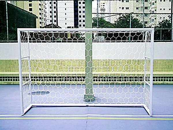Par Rede Gol Futsal Colmeia Fio 4mm Seda Futebol de Salão