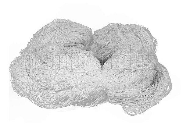 Rede de Proteção Esportiva 2x25m Fio 4mm Malha 12cm Branca Nylon