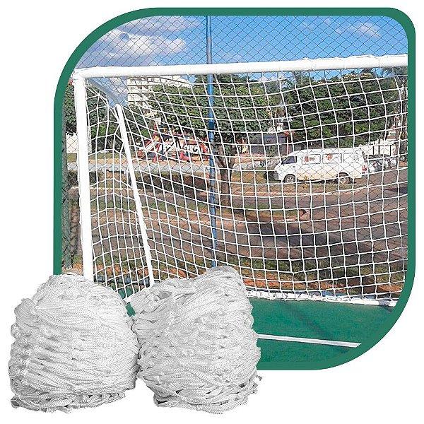 Par de Rede para Trave de Gol Futsal Fio 8mm Seda Futebol de Salão
