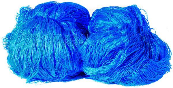 Rede de Proteção Esportiva 2,50x25m Fio 2 Malha 10cm Azul