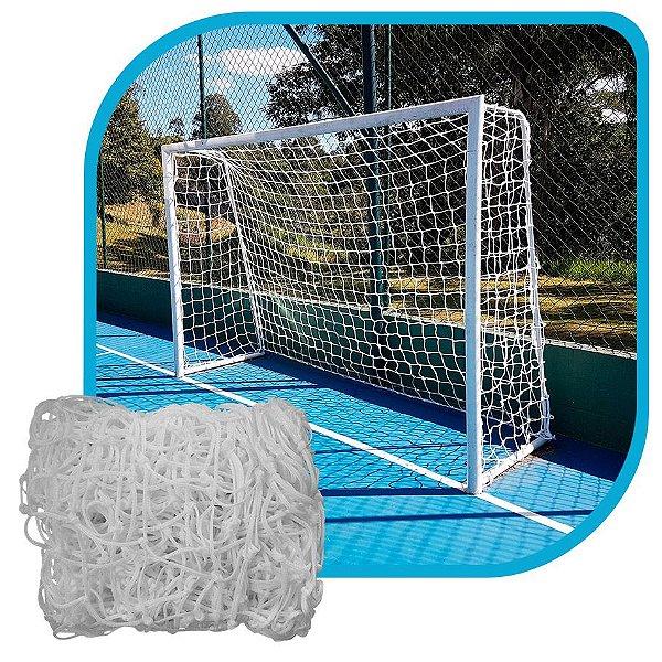 Par de Rede para Trave de Gol Futebol de Campo Fio 8mm Tipo Véu Nylon