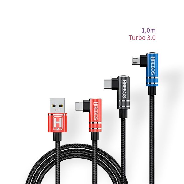 Cabo Tecido Plug Lateral - Gamer (1,0m) Turbo 3.0