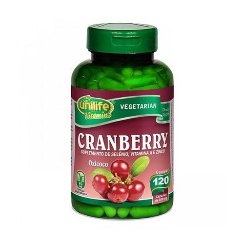 Cranberry Com Selênio Vitamina A e Zinco Unilife Cápsulas